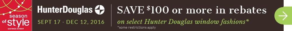 Hunter Douglas on sale!