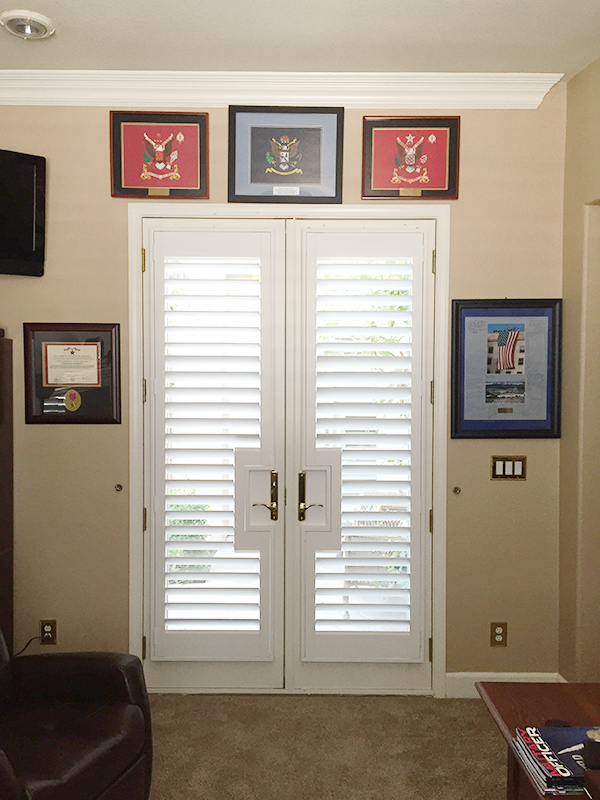 Square French Door Shutters By California Window Fashions