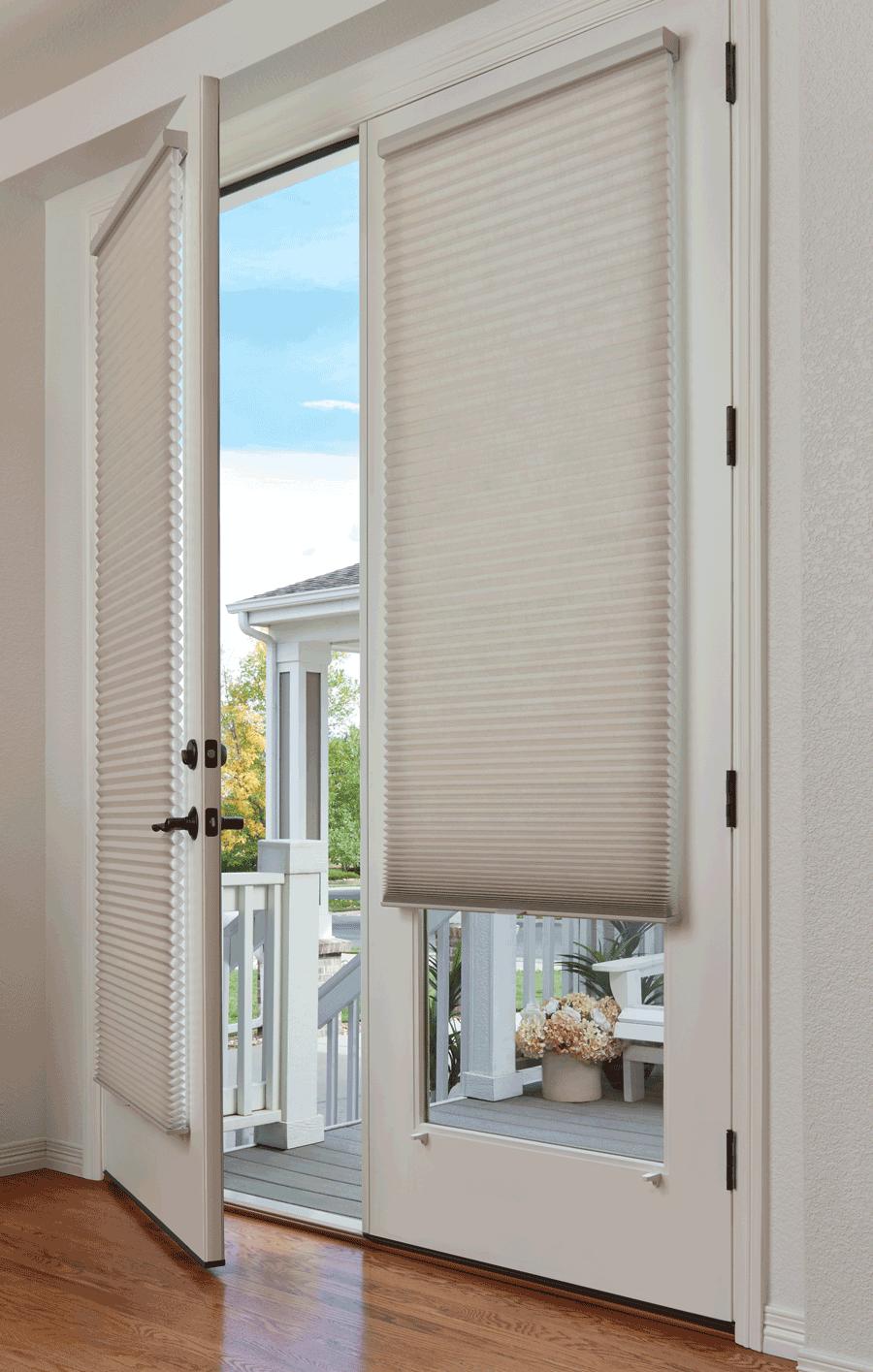 Glass Door Window Treatments Duette Shades French Doors