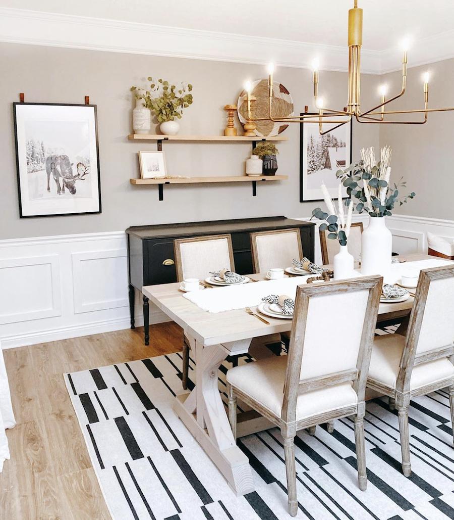 Gold Lighting Dining Room, Gold Dining Room Ideas