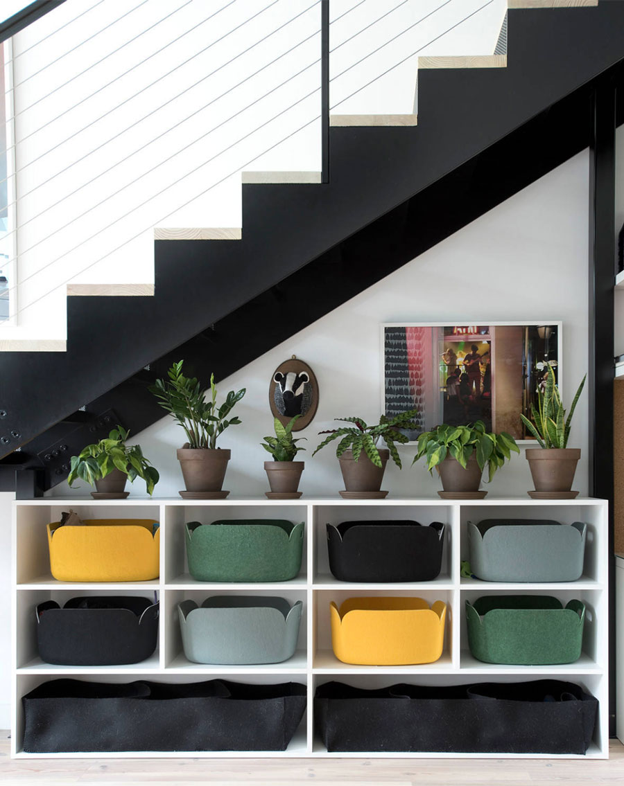 stairs with home storage creative blinds